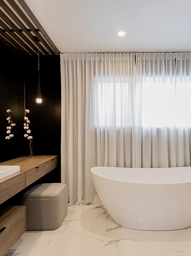 Rideaux de salle de bain