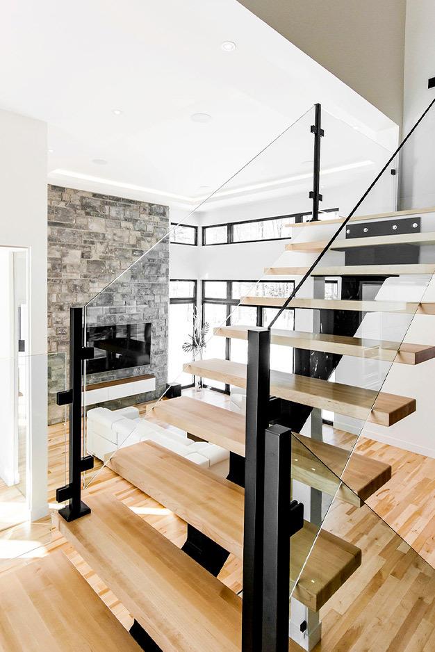 Escalier à pallier